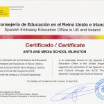 Spanish Embassy Education Office Certificate